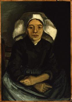 """Vincent van Gogh """"Paysanne de Nuenen assise"""" (Baeuerin aus Nuenen 40 x 28,6 cm"""