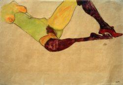 """Egon Schiele """"Liegender weiblicher Akttorso"""" 45 x 32 cm"""