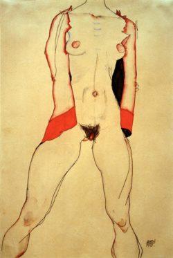 """Egon Schiele """"Weiblicher Torso"""" 28 x 42 cm"""