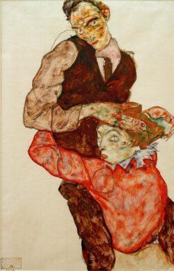 """Egon Schiele """"Liebespaar"""" 31 x 47 cm"""