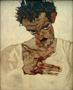 "Egon Schiele ""Selbstbildnis"" 34 x 42 cm"