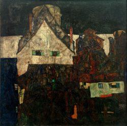 "Egon Schiele ""Tote Stadt"" 80 x 80 cm"