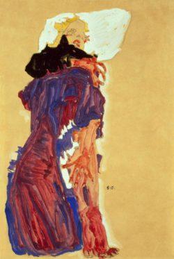"""Egon Schiele """"Auf Polster liegendes Mädchen"""" 30 x 46 cm"""