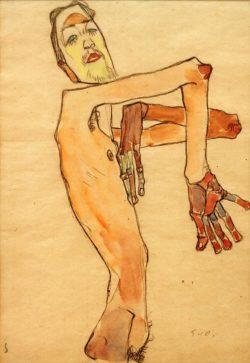 """Egon Schiele """"Erwin van Osen"""" 32 x 45 cm"""