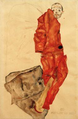 """Egon Schiele """"Den Künstler hemmen ist ein Verbrechen"""" 32 x 49 cm"""