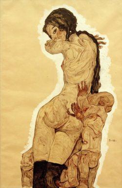 """Egon Schiele """"Mutter und Kind"""" 37 x 56 cm"""