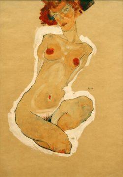 """Egon Schiele """"Hockender weiblicher Akt"""" 31 x 45 cm"""