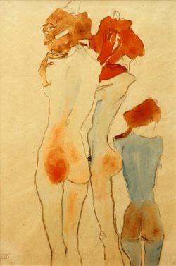 """Egon Schiele """"Drei weibliche Akte"""" 30 x 44 cm"""