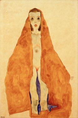 """Egon Schiele """"Junger Mädchenakt"""" 32 x 48 cm"""