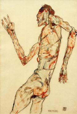 """Egon Schiele """"Der Tänzer"""" 32 x 48 cm"""