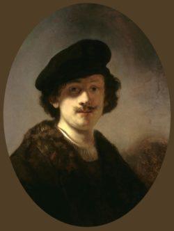 """Rembrandt """"Selbstporträt-mit-verschatteten-Augen"""" 70.8 x 55.2 cm"""