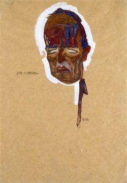 "Egon Schiele ""Oskar Reichel Kopfstudie"" 31 x 45 cm"