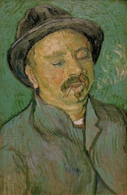 """Vincent van Gogh """"Bildnis eines einaeugigen Mannes"""" (Portraet eines Geisteskranken 56 x 36,5 cm"""