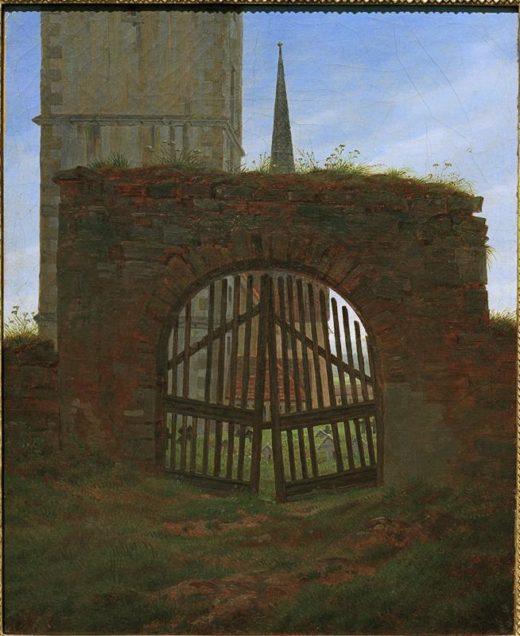 "Caspar David Friedrich ""Das Friedhofstor""  25 x 31 cm 1"