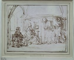 "Rembrandt ""Tobias-fragt-den-Engel-aus"" 17.2 x 22.3 cm"