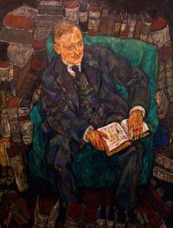 """Egon Schiele """"Hugo Koller"""" 110 x 140 cm"""