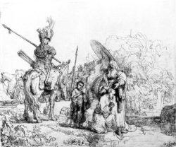 """Rembrandt """"Die-Taufe-des-Kämmerers"""" 18.3 x 21.4 cm"""