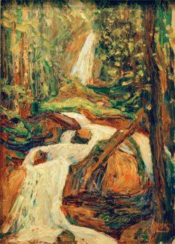 "Wassily Kandinsky ""Kochel Wasserfall"" 23 x 32 cm"