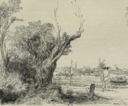 """Rembrandt """"Der-Omval"""" 18.5 x 22 cm"""