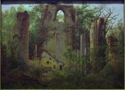 """Caspar David Friedrich """"Klosterruine Eldena bei Greifswald""""  49 x 55 cm"""