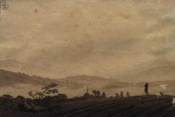 "Caspar David Friedrich ""Nebelmorgen""  18 x 12 cm"