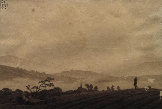"Caspar David Friedrich ""Nebelmorgen""  18 x 12 cm 1"