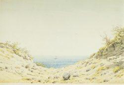 """Caspar David Friedrich """"Blick durch eine Ufersenkung auf das Meer""""  36 x 224 cm"""