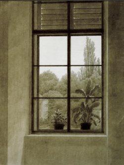 """Caspar David Friedrich """"Fenster mit Parkpartie""""  30 x 39 cm"""