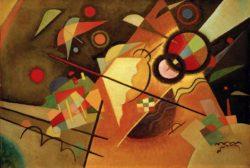 """Wassily Kandinsky """"Gelbe Spitze"""" 65 x 47 cm"""