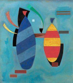 """Wassily Kandinsky """"Beide Gestreift"""" 70 x 80 cm"""