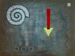 """Wassily Kandinsky """"Grüne Spitze"""" 42 x 31 cm"""