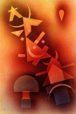 """Wassily Kandinsky """"Aus Kühlen Tiefen"""" 32 x 48 cm"""