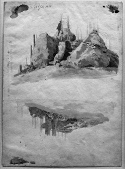 "Caspar David Friedrich ""Felsen und Bäume""  26 x 36 cm"
