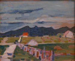 """Wassily Kandinsky """"Felder Bei Murnau"""" 41 x 32 cm"""