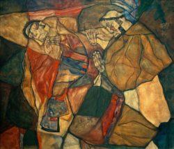 """Egon Schiele """"Agonie Der Todeskampf"""" 80 x 70 cm"""