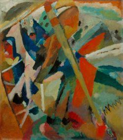 """Wassily Kandinsky """"Der Heilige Georg"""" 95 x 107 cm"""