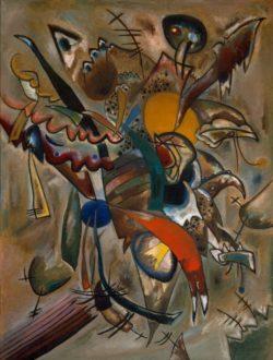 """Wassily Kandinsky """"Bild Mit Spitzen Komposition"""" 95 x 126 cm"""