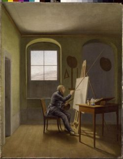 "Caspar David Friedrich ""Caspar David Friedrich in seinem Atelier""  39 x 51 cm"