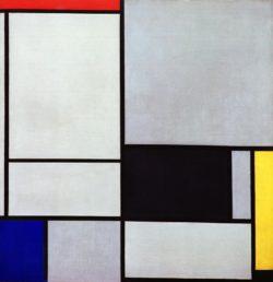 "Piet Mondrian ""Komposition"" 103 x 99 cm"
