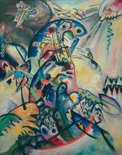 """Wassily Kandinsky """"Blauer Kamm Blauer Bogen"""" 104 x 133 cm"""
