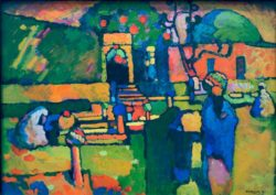 """Wassily Kandinsky """"Arabischer Friedhof"""" 98 x 71 cm"""