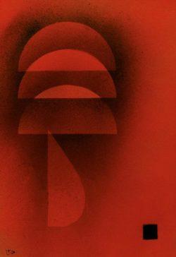 """Wassily Kandinsky """"Gedämpfte Glut"""" 25 x 36 cm"""