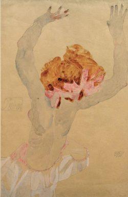 """Egon Schiele """"Die Blinde"""" 32 x 48 cm"""
