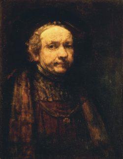 """Rembrandt """"Autoportrait"""" 85 x 61 cm"""
