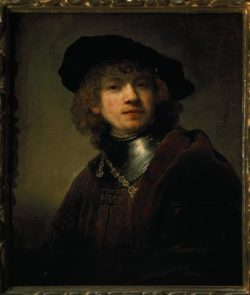 """Rembrandt """"Rembrand-Selbstbildnis-mit-dem-eisernen-Kragen"""" 61 x 52 cm"""