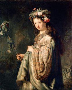 """Rembrandt """"Flora"""" 124.7 x 100.4 cm"""