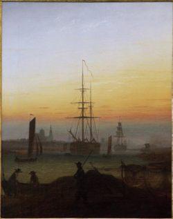 """Caspar David Friedrich """"Greifswalder Hafen""""  70 x 90 cm"""