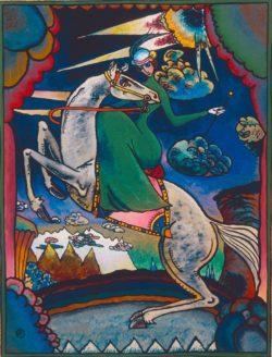 "Wassily Kandinsky ""Amazonen Den Bergen"" 25 x 31 cm"