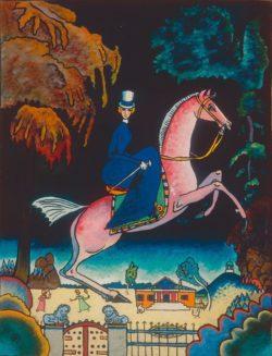 "Wassily Kandinsky ""Amazone Mit Löwen"" 24 x 31 cm"