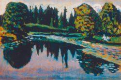 "Wassily Kandinsky ""Der Flußm Sommer"" 29 x 19 cm"